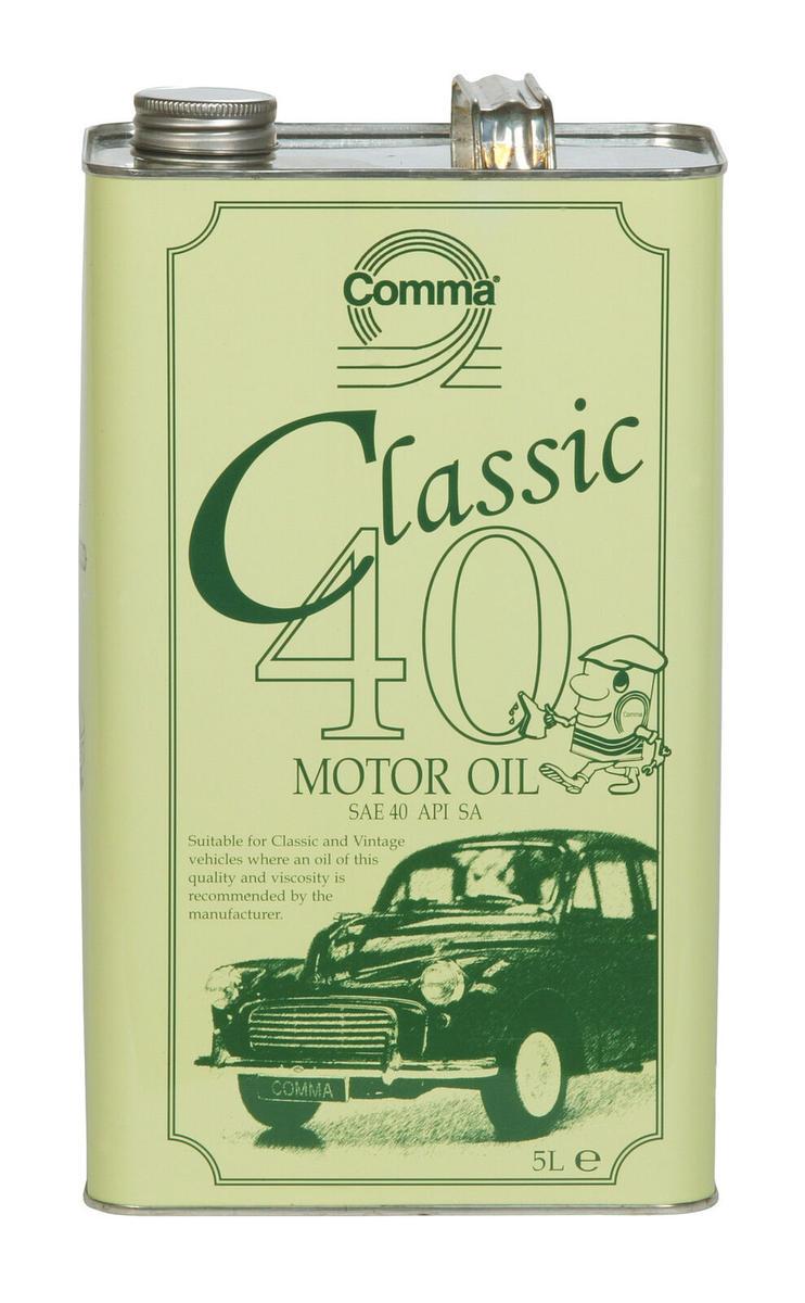 Comma Classic 40 Traditional Motor Monograde Oil 4-Stroke Engines Cla405L 5L