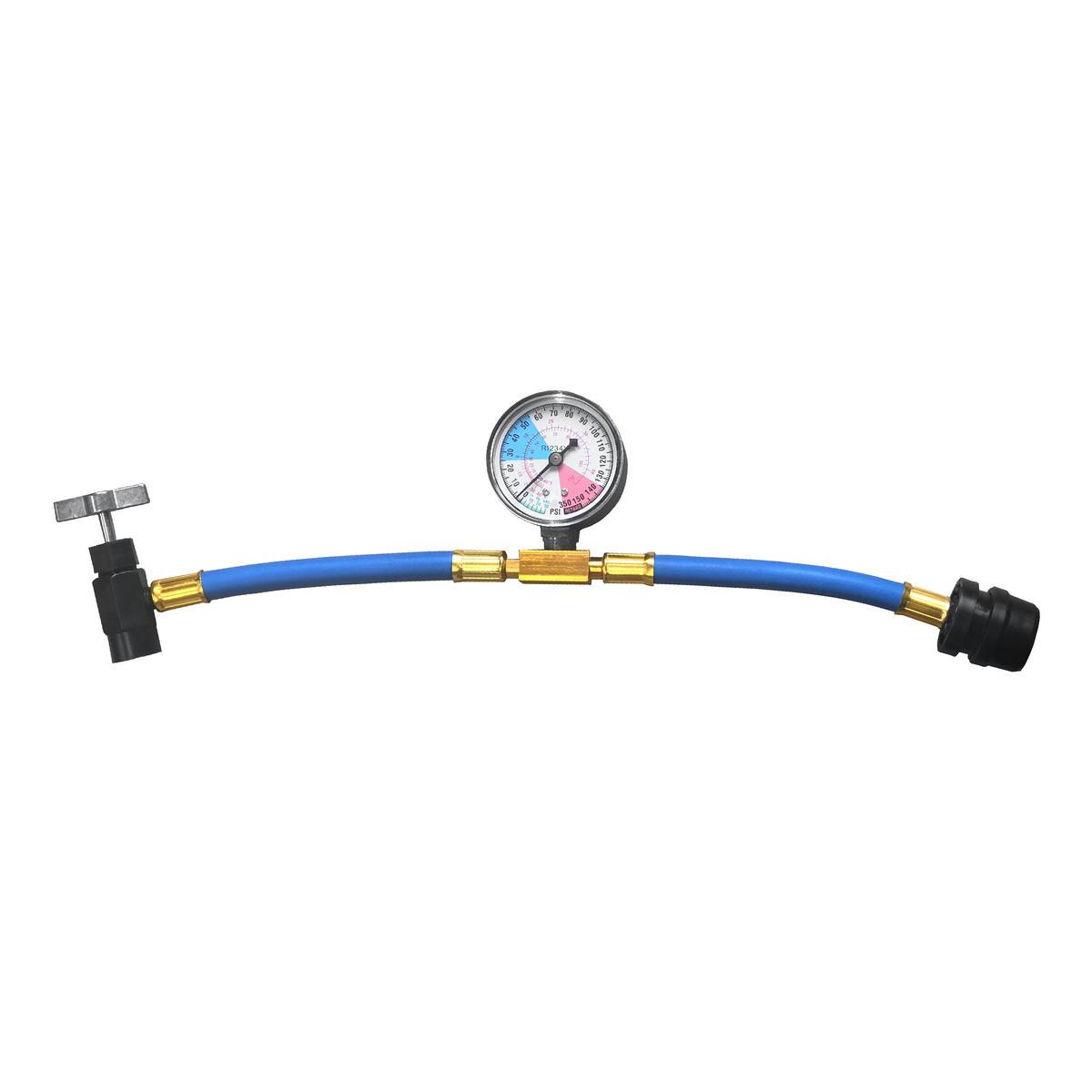 Car AC Aircon Air Con R1234YF Recharge Gas Regas DIY Tool Hose Pipe With Gauge