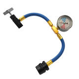 Car Aircon Air Con R1234YF Recharge Gas Regas DIY Tool Hose Pipe With Gauge