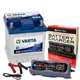 Varta B36 Fiat Car Battery 12v 4 Year 202 / 002L 44Ah 420CCA W/ 10 Amp Charger