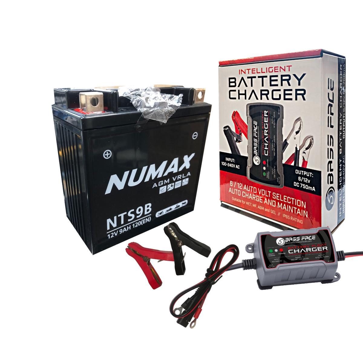 Numax NTS9B 12v Motorbike Motorcycle Battery 12N9-4B-1 YB9-B 12N9-3B YB9L-B