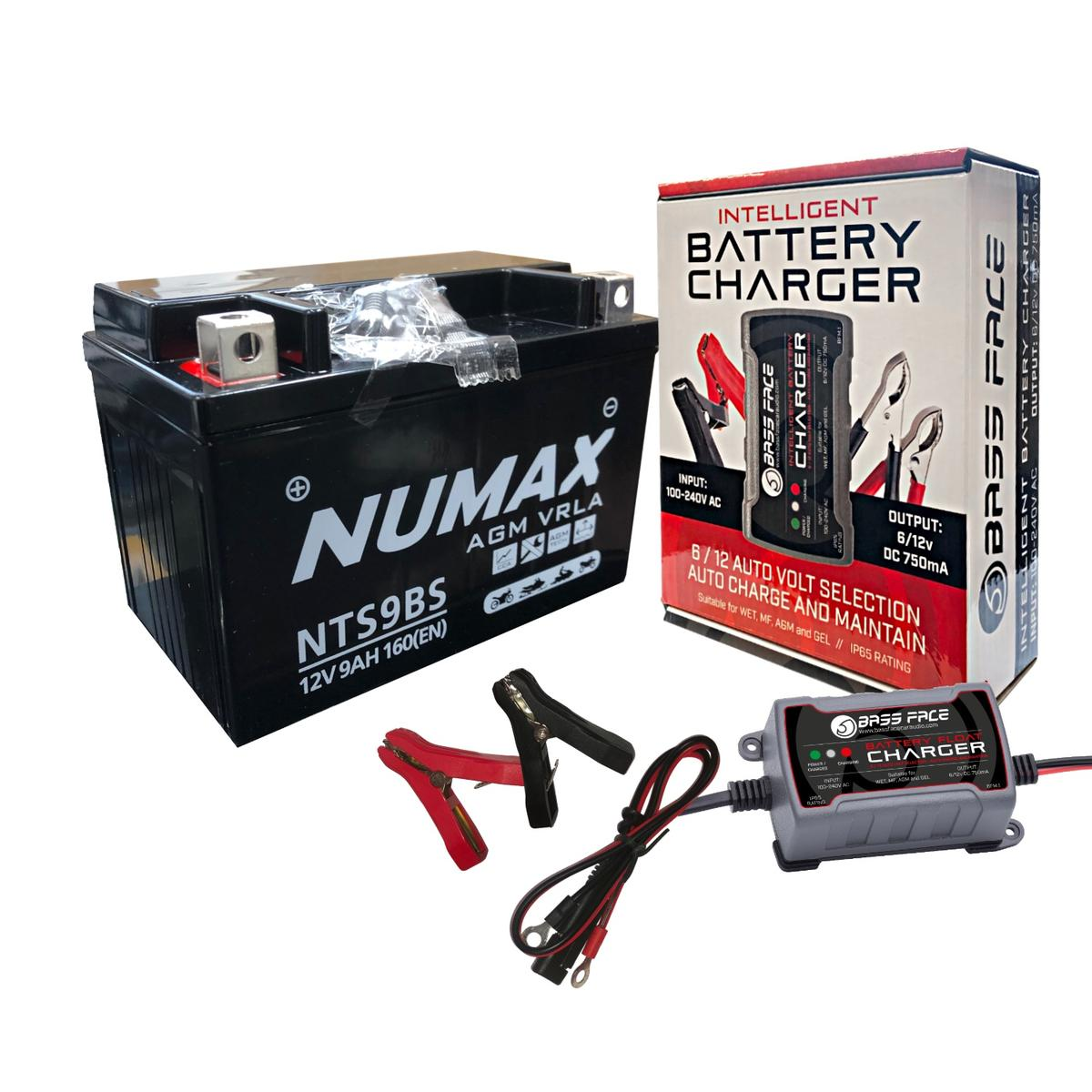Numax NTS9BS Motorbike Motorcycle Quad Bike ATV Battery Replaces YXT9-4 YXT9-BS