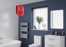 Bassface Funky Red Coloured Bathroom iPhone MP3 AUX Wall 200w Speakers Amplifier