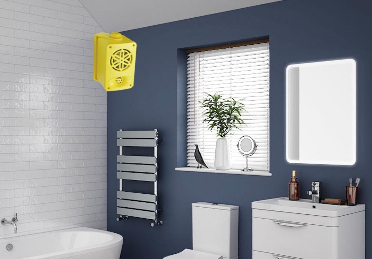 Bassface Funky Yellow Colour Bathroom iPhone MP3 Wall 200w Speakers Amplifier
