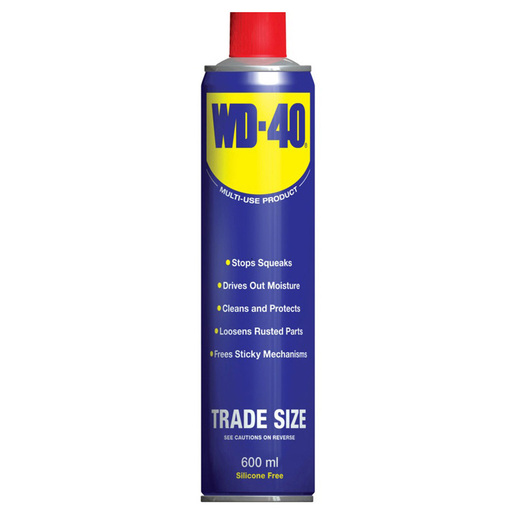 Multi Use Oil Spray Cleaning Lubricating Stop Squeaks WD-40 44010A 600ml Single