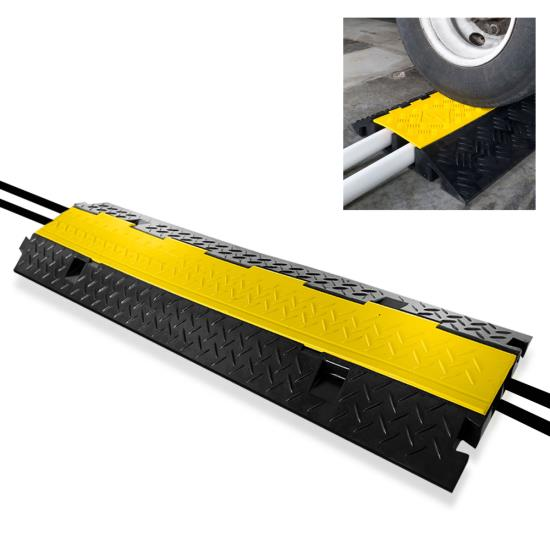 New PCBLCO103 Hassle-Free Cable Protective Cover Ramp, Cord/Wire Protection Track