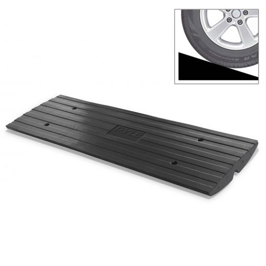 PCRBDR24.5 Hassle-Free Curb Car Truck Vehicle Ramp Driveway Rubber Lifter