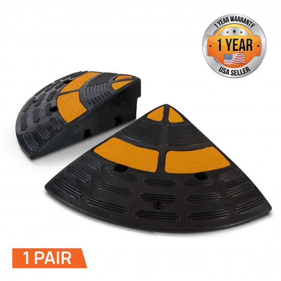 Pyle PCRBDR40 End Finish Caps for Car Curb Ramps