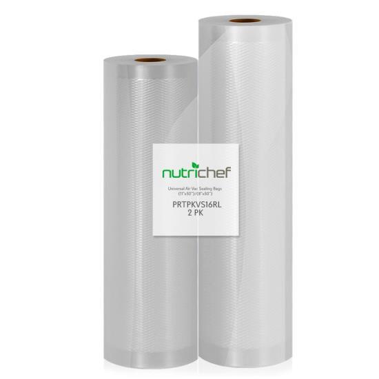Universal Vacuum Food Preserve Sealer Bags Air Vac Sealing Bags 2 Rolls 100? ft