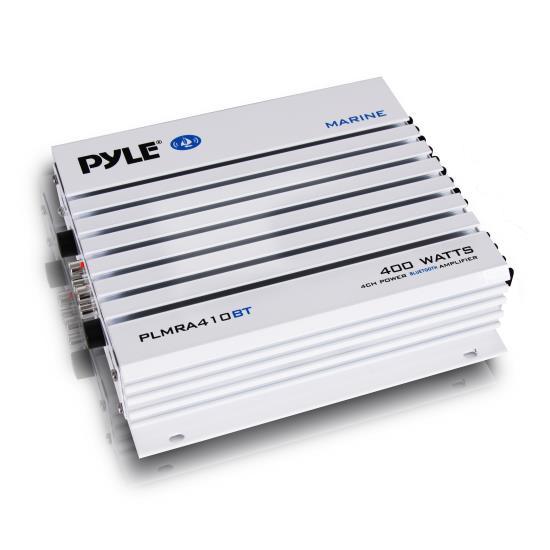 Pyle PLMRA410BT Waterproof Bluetooth 400 Watt Marine 4 Channel Amp Amplifier