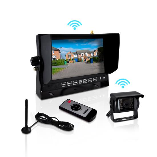 Pyle Wireless Rear View Back up Commericial 12-24v Reverse Camera Monitor System