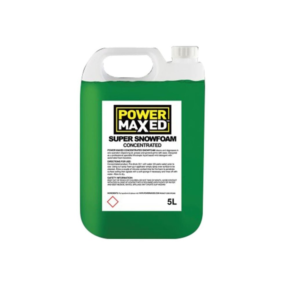 Car Shampoo Snow Foam Super Concentrated Cleaning Power Maxed SFC500 5 Litre