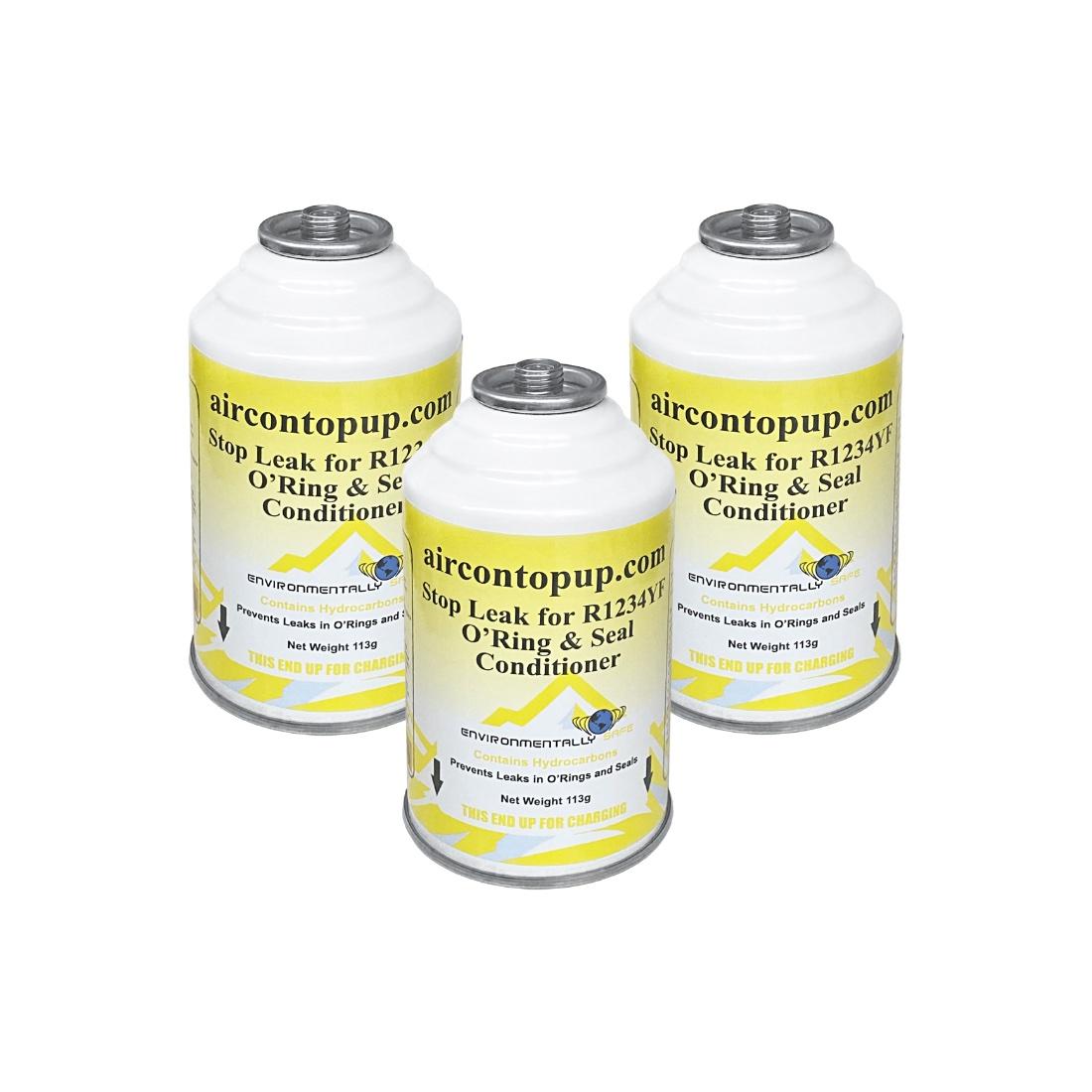 Car Aircon R1234YF AC Air Con Air Conditioning Leak Stopper Conditioner Gas x3
