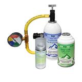 Car AC Aircon Air Con Conditioning Gas Top up Refill Regas Tool Kit + Sanitiser