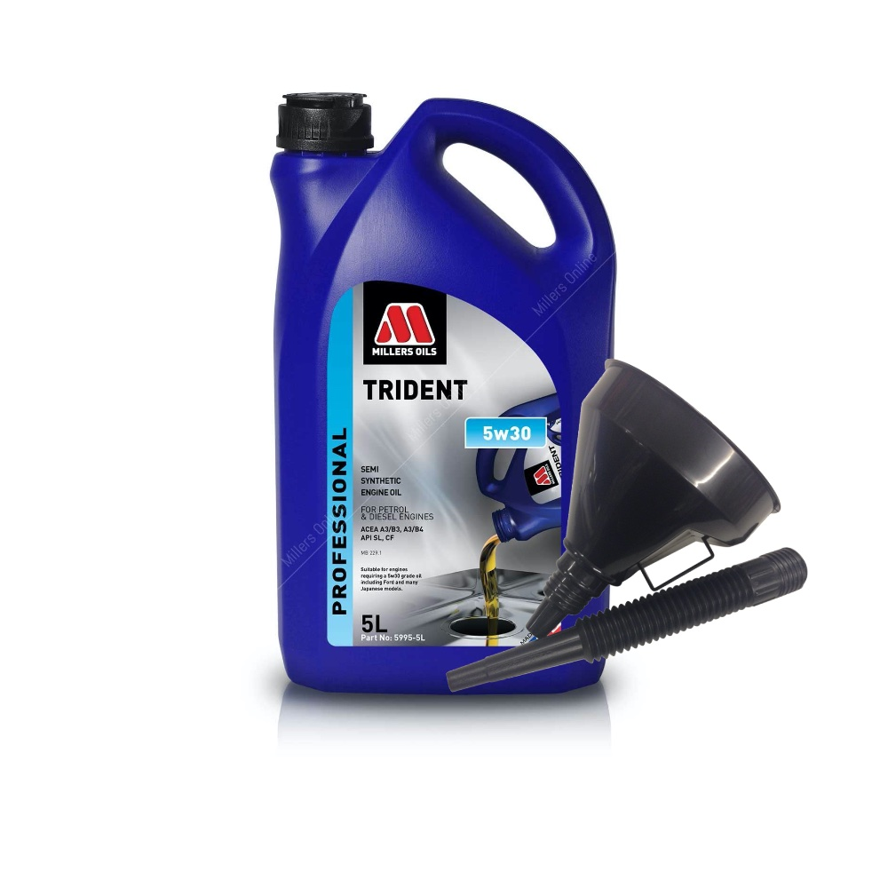 Millers Semi Synthetic 5W30 Ford Japanese models 5 Litre Engine Oil + Funnel
