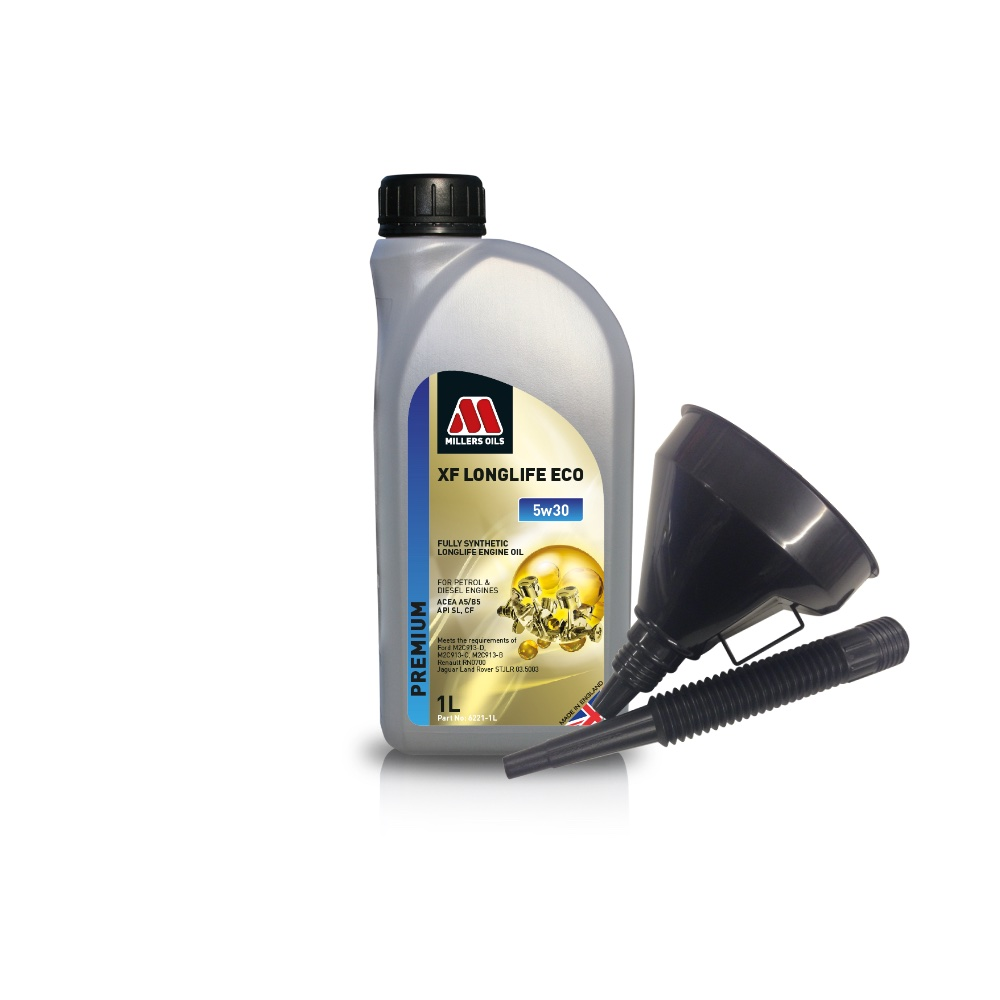 Millers Fully Synthetic ECO 5W30 Ford petrol diesel 1 Litre Engine Oil + Funnel