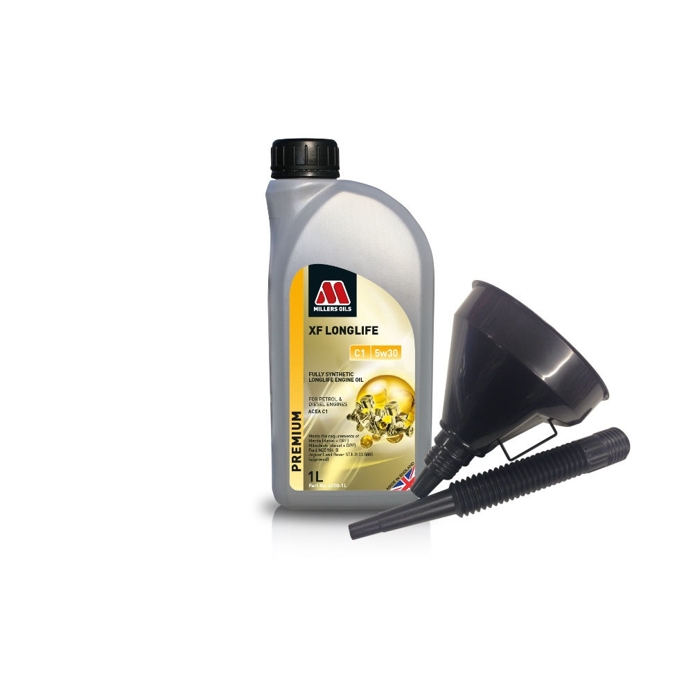 Millers Fully Synthetic C1 5W30 Mazda Mitsubishi 1 Litre Engine Oil + Funnel