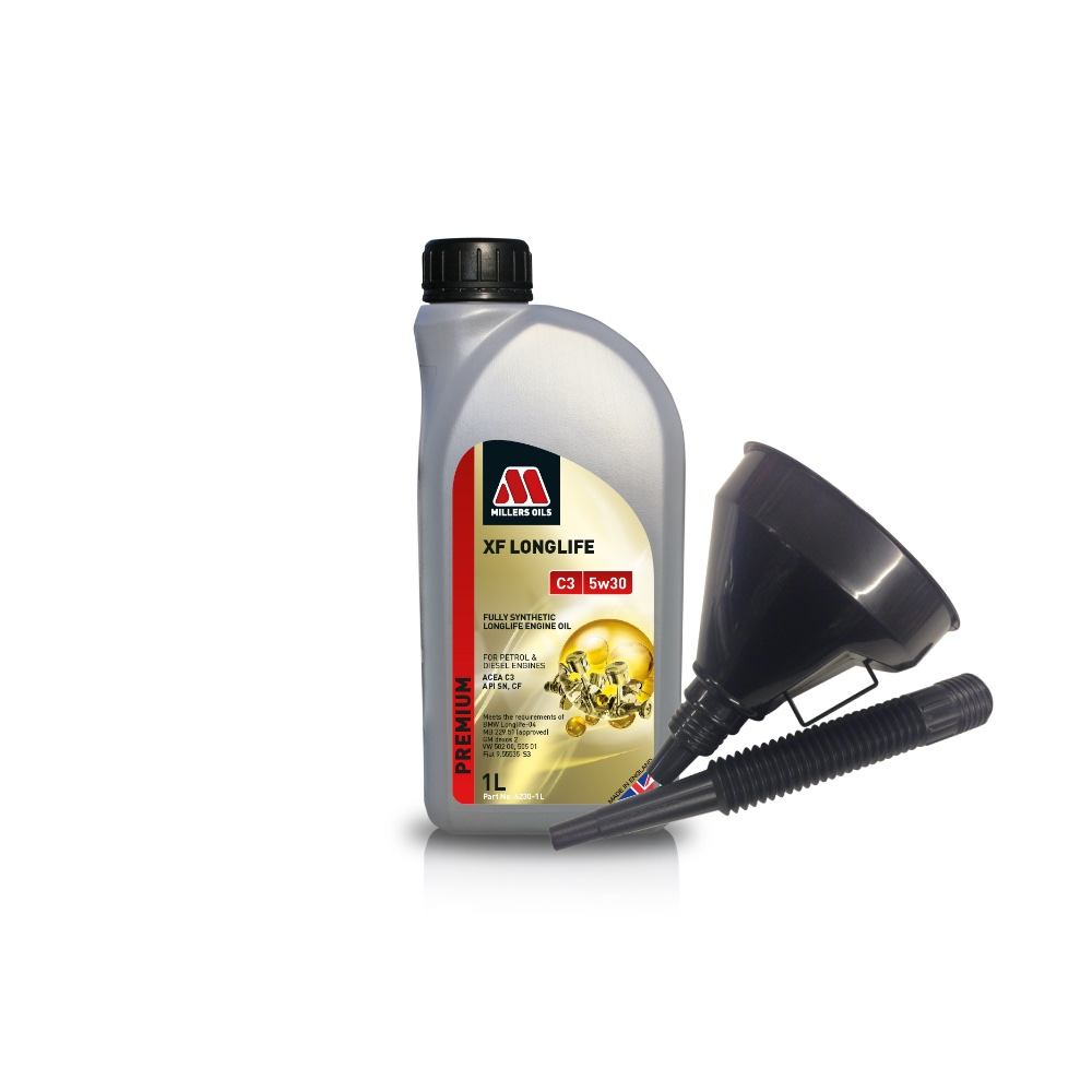 Millers Fully Synthetic C3 Mercedes-Benz BMW 1 Litre Engine Oil + Funnel