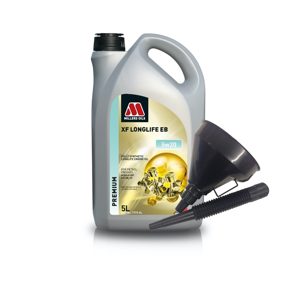 Millers Fully Synthetic EB 5W20 Fiesta Focus C-Max 5 Litre Engine Oil + Funnel
