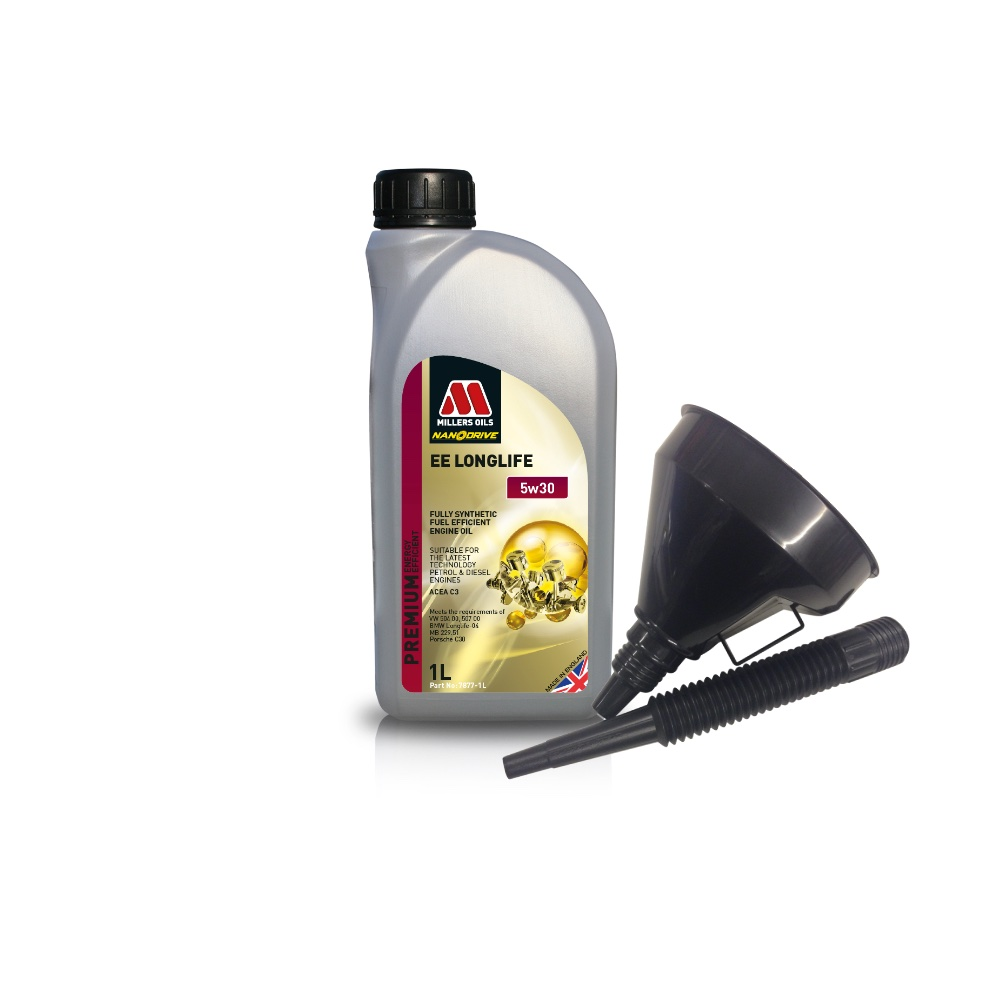 Millers Fully Synthetic 0W30 Honda Mazda Renault 1 Litre Engine Oil + Funnel