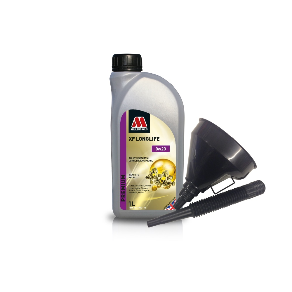 Millers Fully Synthetic 0W20 Lexus Suzuki Toyota 1 Litre Engine Oil + Funnel