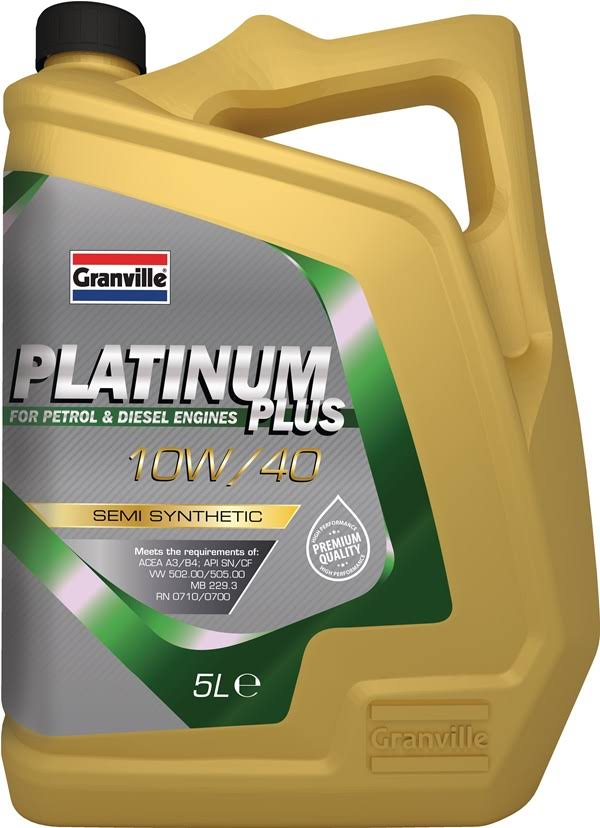 Car 10W40 Engine Oil Premium Performance Granville 0043A 5 Litre Single