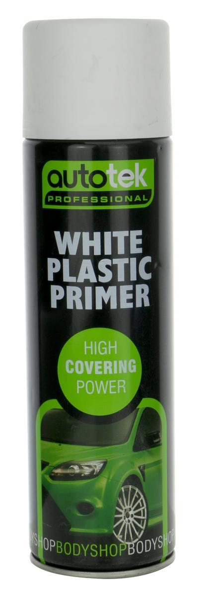 Autotek ATOOPPW500 Automotive Quick Drying White Plastic Primer Spray Aerosol Paint 500ml