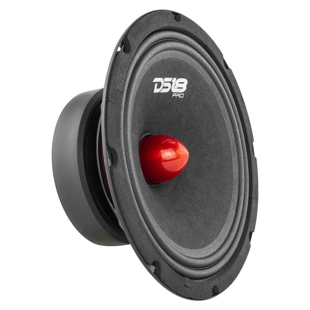 """DS18 PRO-GM8B In Car Audio Mid Range Bass 8"""" Inch 660 Watt 8 Ohm Speaker"""