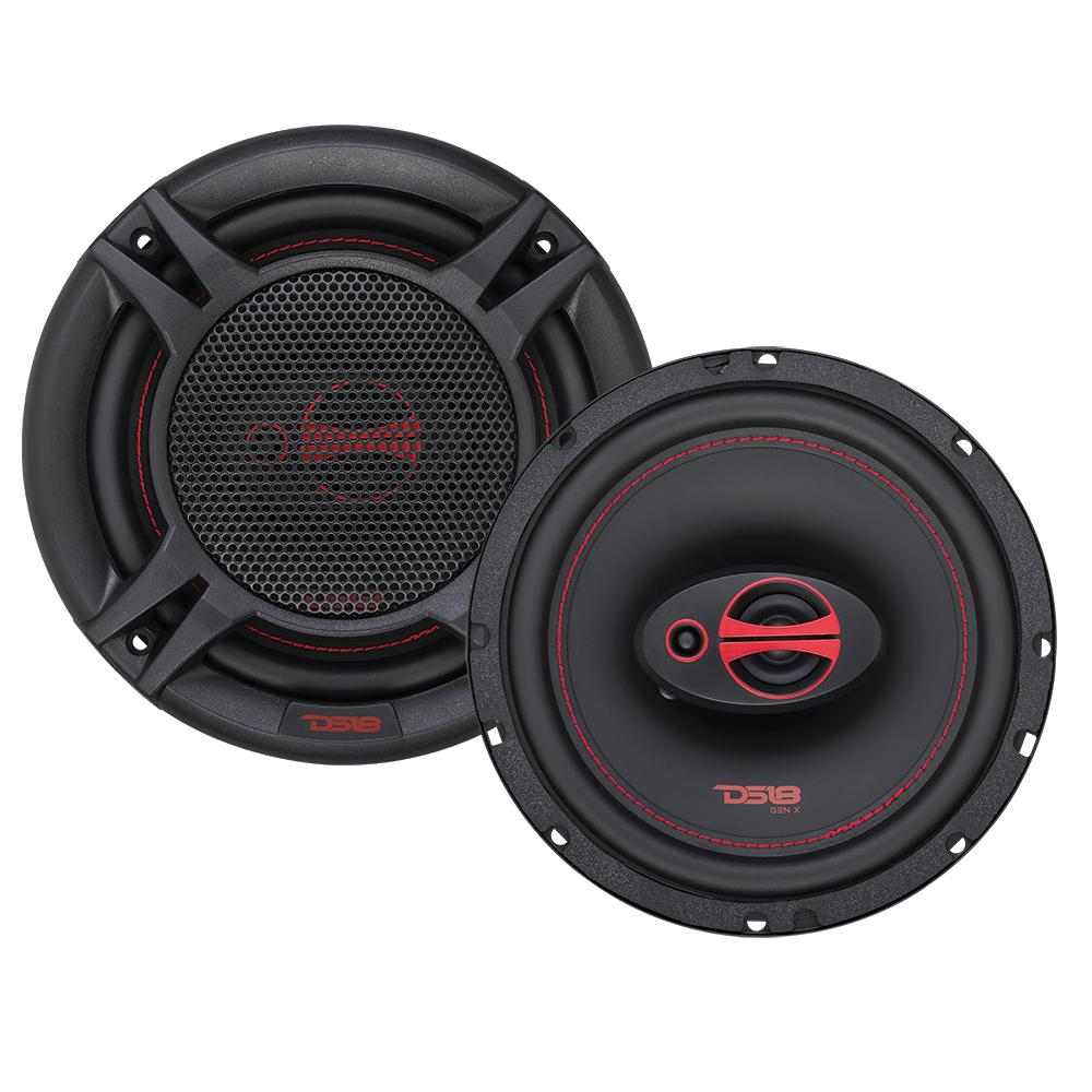 """DS18 Car Coaxial Speakers 6.5"""" Inch 150w Watt 4Ohm 3 Way GEN-X6.5 Pair"""