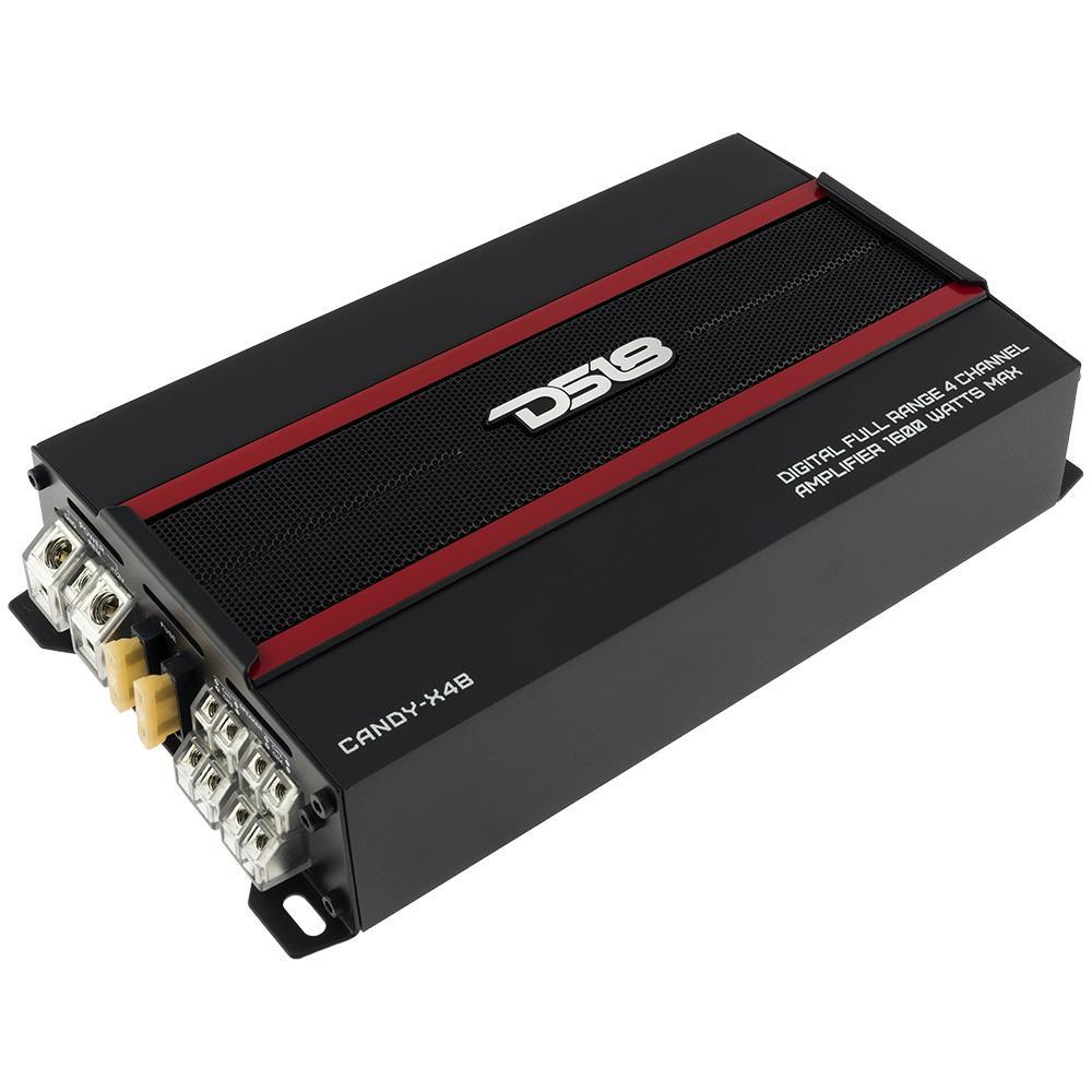 DS18 Car Amp 4 Channel 1600w Watt Audio Amplifier Stereo CANDY-X4B Full Range