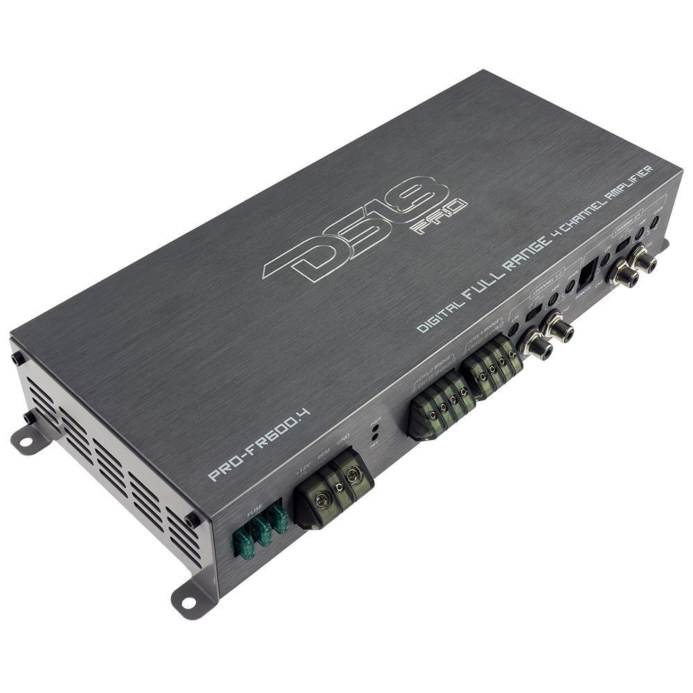 DS18 Car Amp 4 Channel 600w Watt Audio Amplifier Stereo PRO-FR600.4 Full Range