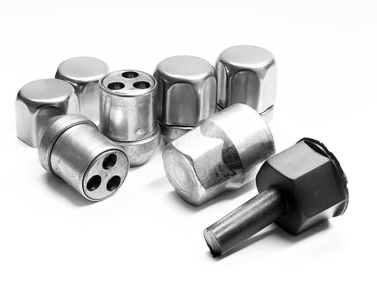 Hyundai Accent 94- Trilock AGA Automotive High Security Locking Wheel Nuts Set