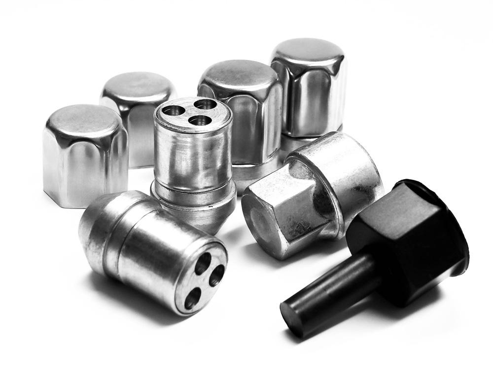 Ssangyong Korando Mk1 99-10 Trilock OGA High Security Locking Wheel Nuts Set