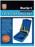 3 Piece HSS Step Drill Set 4-32mm 20504 Bluespot Tools Kit