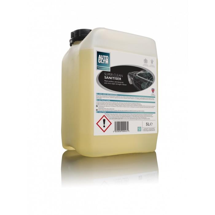Autoglym Super Clean Sanitiser 68B005 Car Care Home Office 5 Litre Single