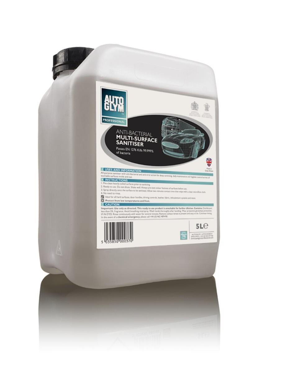 Autoglym Anti Bacterial Multi Surface Cleaner 96005 EN 1276 Kills 99.9% 5 Litre