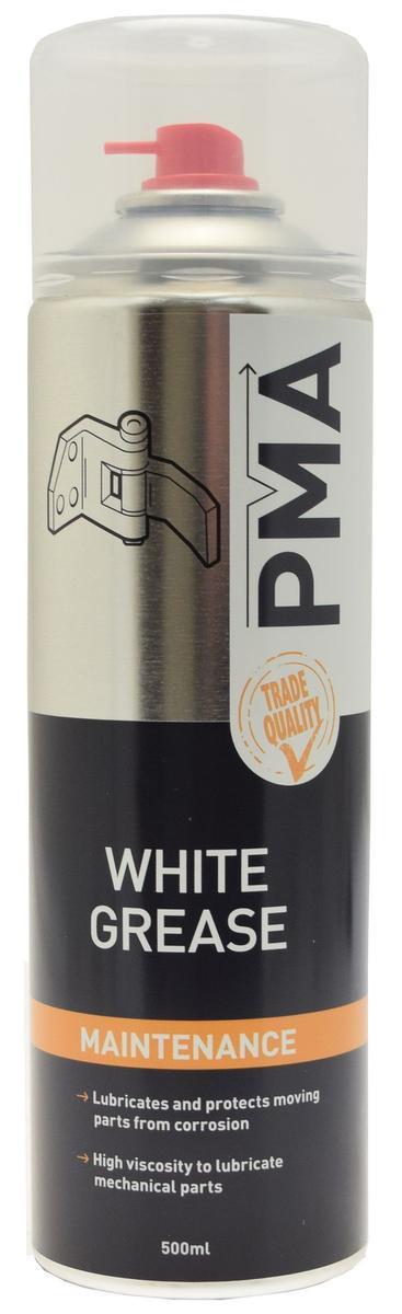 White Grease Spray Multi Purpose Lubricant Aerosol PMA WHGR 500ml Single