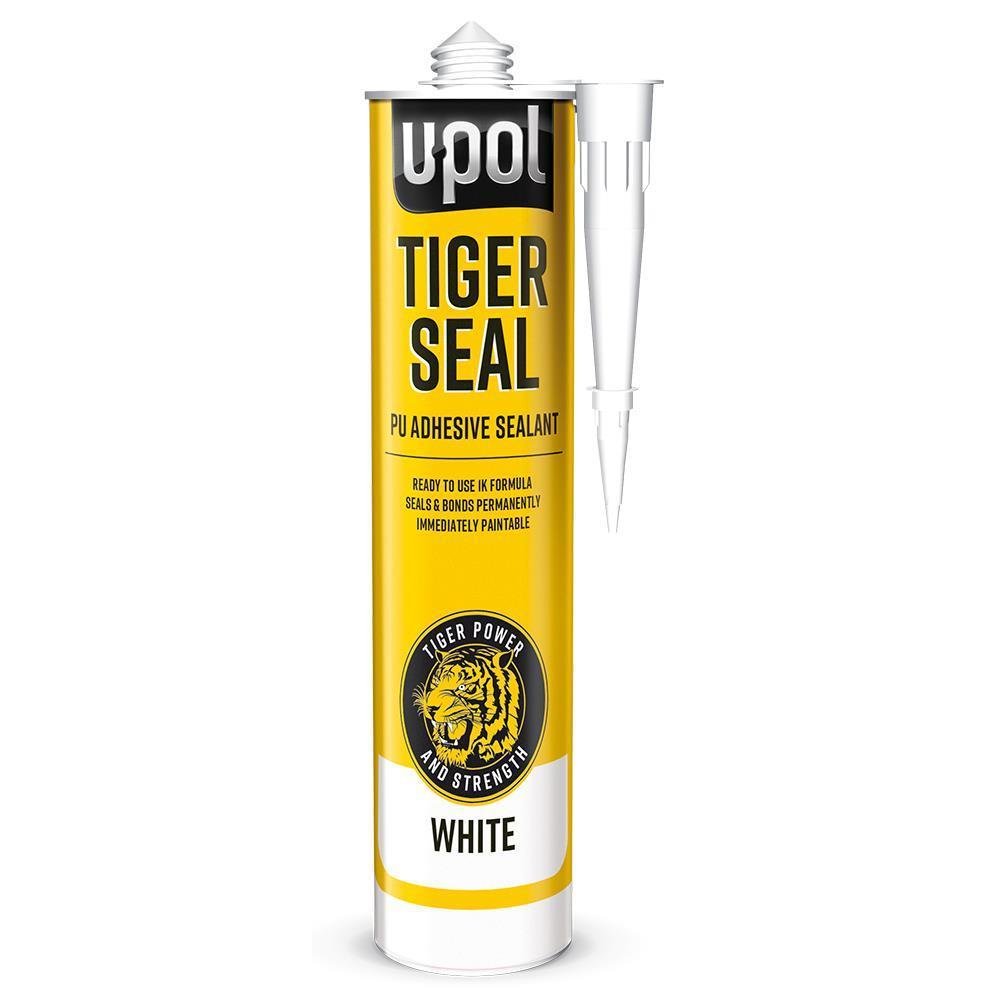 Tiger Seal PU Adhesive Sealant Bonding Gripping BLACK Seam Trim 310ml TIG/BW