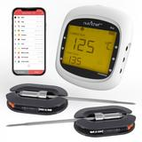 BBQ Smart Bluetooth Grill Thermometer Stainless Dual Probes Safe Barbecue Smoker