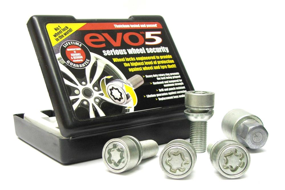 Evo5 199/5 High Security Alloy Wheel Locking Wheel Bolts Fits Porsche Boxster 1996- 2015