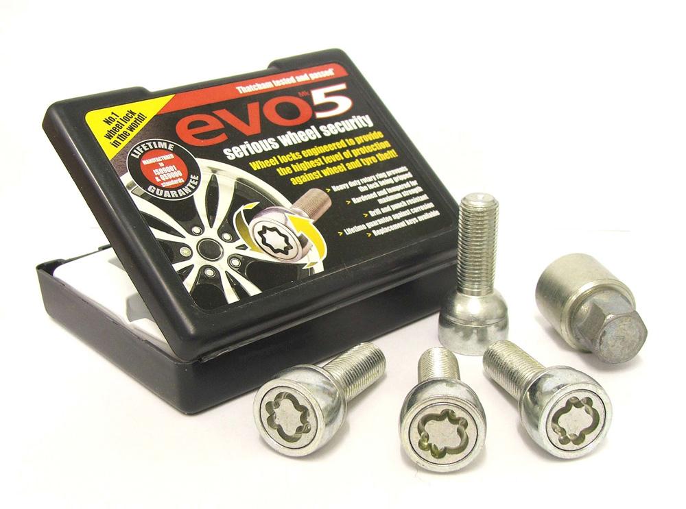 Evo5 291/5 High Security Alloy Wheel Locking Wheel Bolts Fits Volkswagen Sharan Mk1 1995-2009