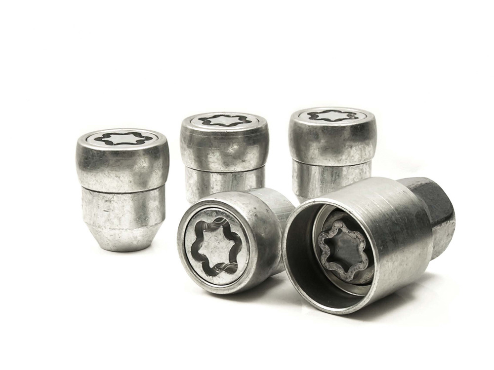 Evo5 377/5 High Security Alloy Wheel Locking Wheel Nuts Fits Infiniti FX35, FX45, FX50 2003-2011 (60° Seat)