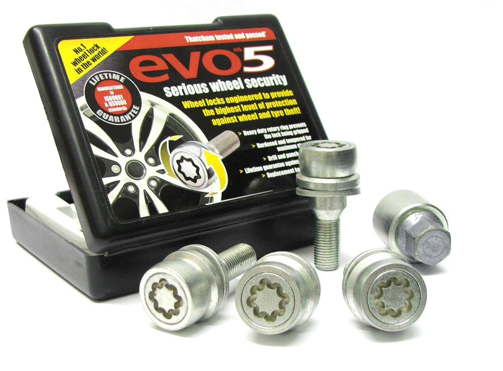 Evo5 766/5 High Security Alloy Wheel Locking Wheel Bolts Fits Vauxhall Mokka 2020-