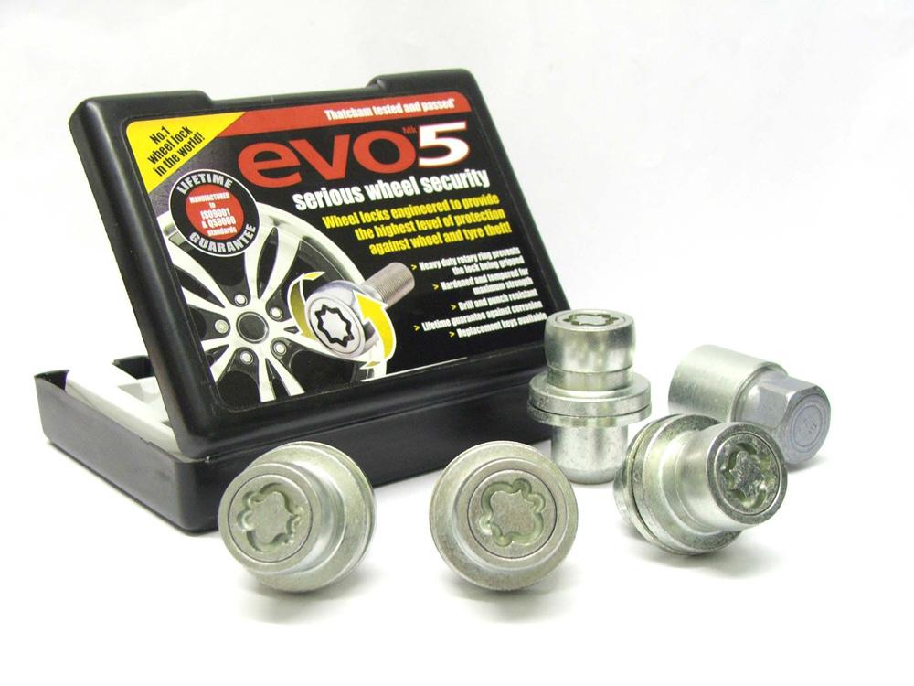 Evo5 863/5-RR High Security Alloy Wheel Locking Wheel Nuts Fits Land Rover Range Rover L322+ 2002-2012 (20? Wheels)