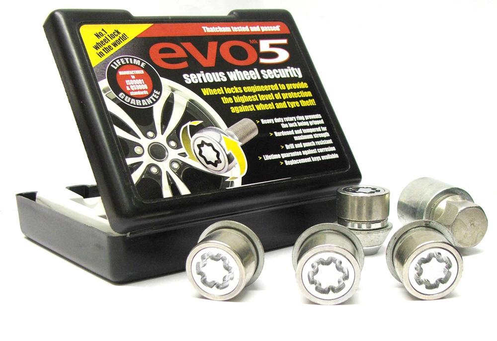 Evo5 980/5 High Security Alloy Wheel Locking Wheel Nuts Fits Ford Escort Mk5 1990-1998