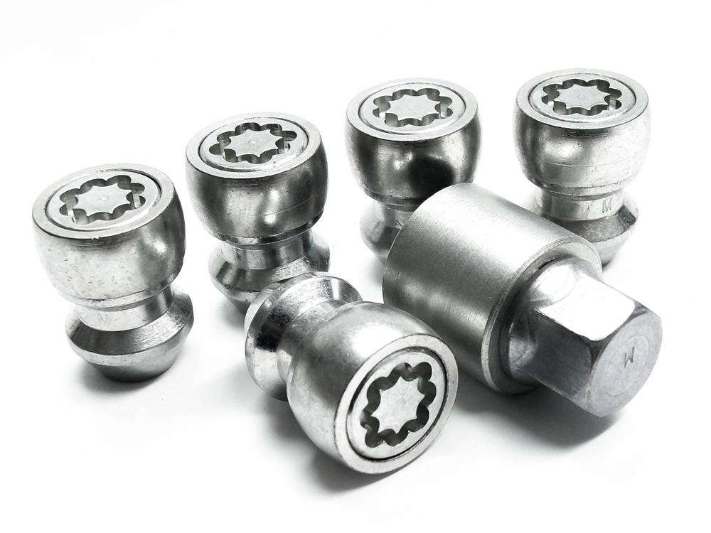 Evo5 5089/5 High Security Alloy Wheel Locking Wheel Nuts Fits Chrysler/Jeep Cherokee 1987-2013 (set of 5)