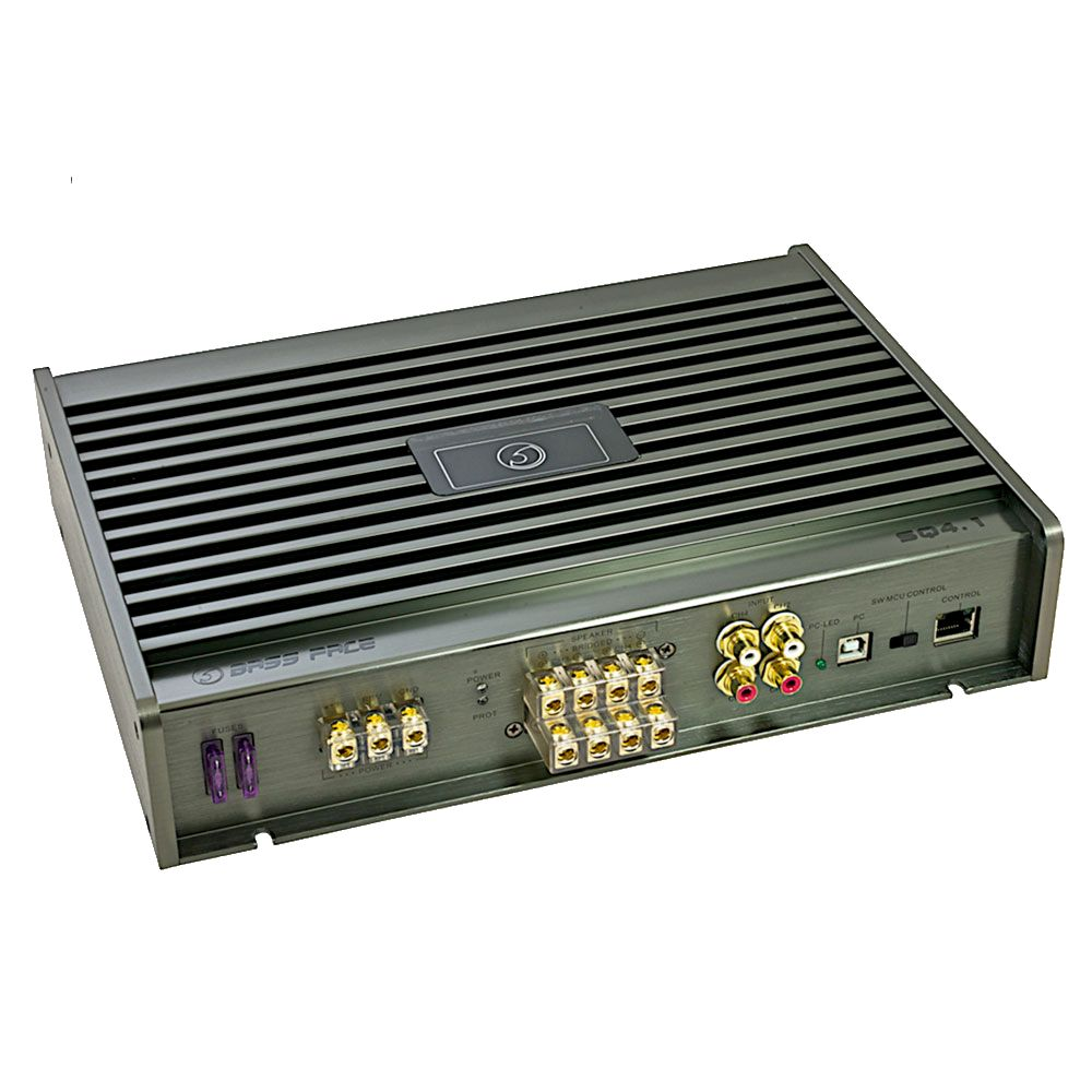 Bassface SQ4.1 440w PC Control Class A/B 4/3/2 Channel DSP Car Amplifier SQ Amp