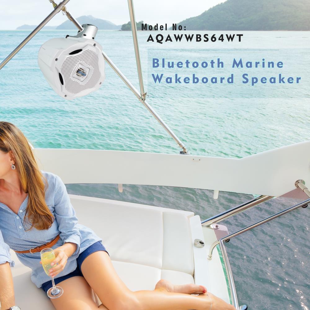 Thompsons Ltd | Lanzar AQAWBS64WT 6.5\'\' Bluetooth Wakeboard Marine ...