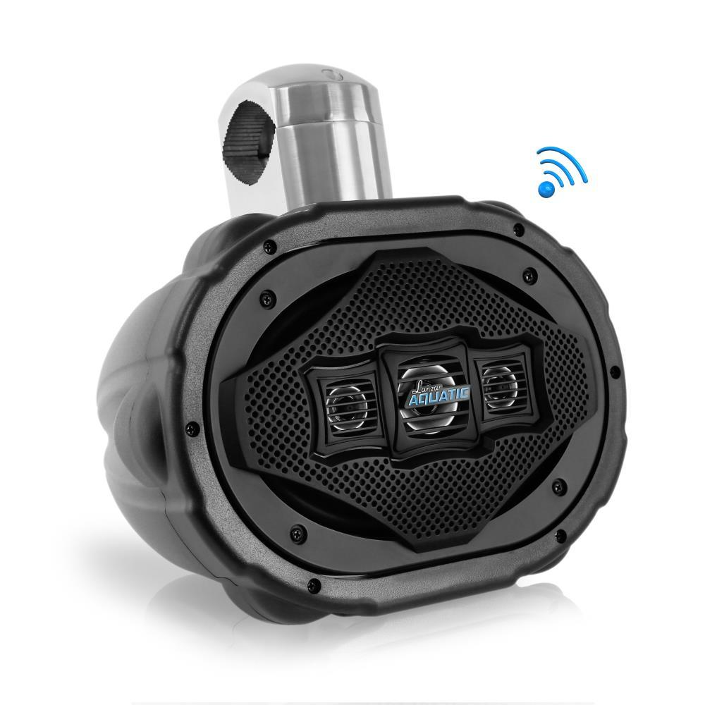 Lanzar AQAWBS69BK 6'' x 9'' Bluetooth Wakeboard Marine Outdoor Speaker Single