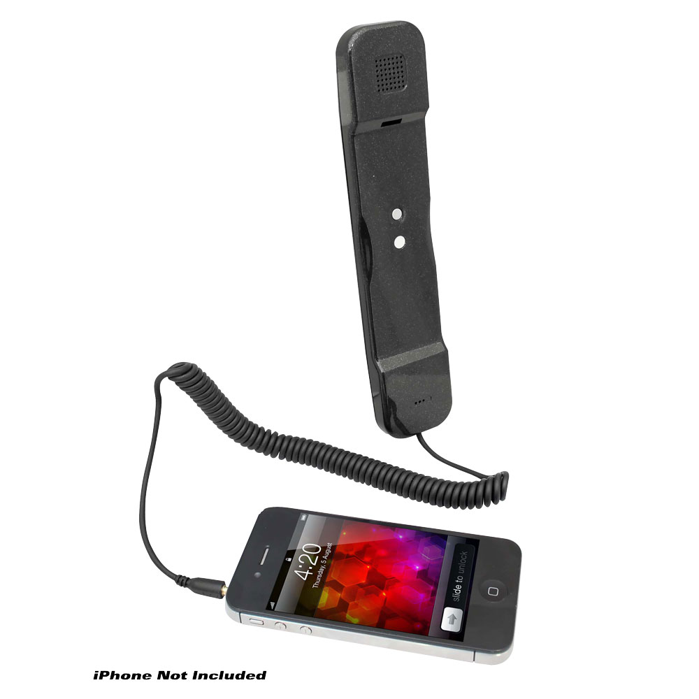 Pyle USA Corded Soft Touch Handset For iPhone iPad iPod And Android Phones Black